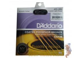 Струны D'Addario EXP26 Phosphor Bronze Custom Light (11-52)