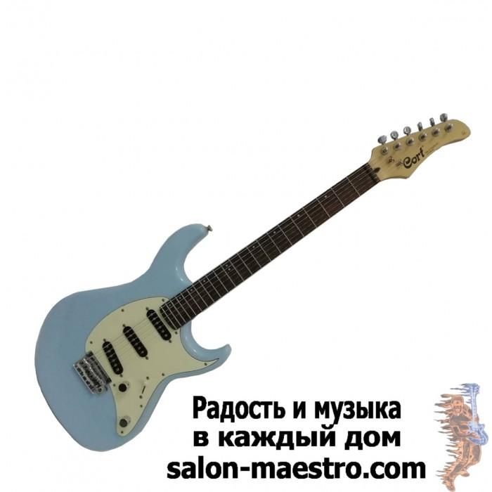 (0953) Прекрасная электрогитара Cort небесно-голубого цвета