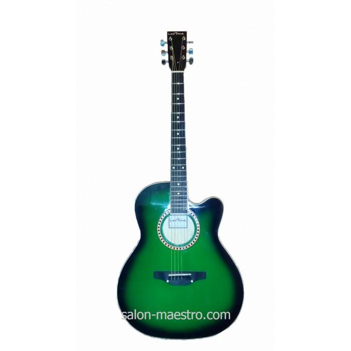 ( 01\157 ) Акустическая Гитара Leotone L-01 Green Глянец