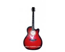 ( 01\159 ) Акустическая Гитара Leotone L-01 Red Глянец