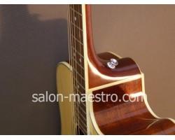Установка пуговицы на деку гитары