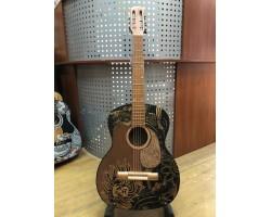 (0113) Гитара с Художественной Росписью Лев