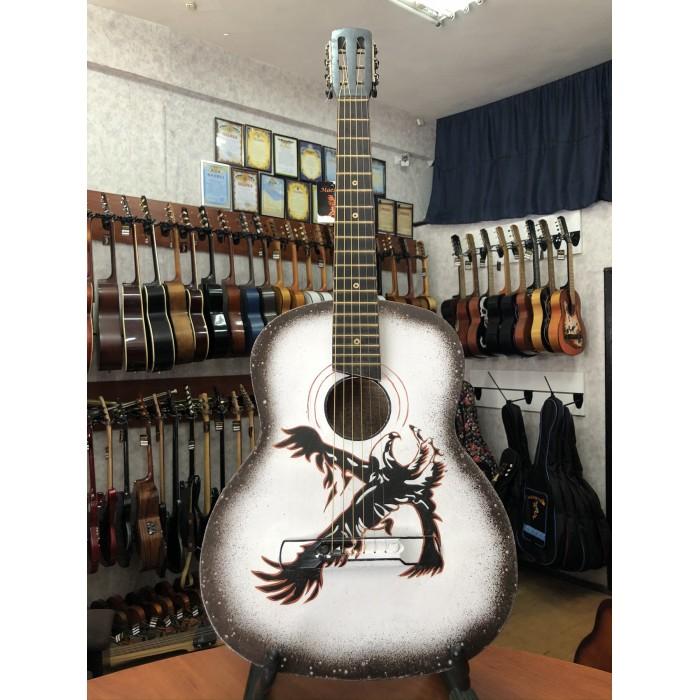 (0570) Гитара с Художественной Росписью «Brave Eagle»