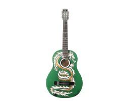 (4063) Гитара 3\4 с Росписью «Дракон» Новые Колки и Струны