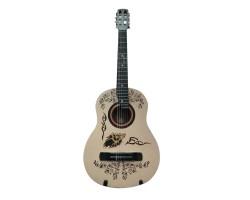(3153) Гитара 3\4 с Росписью «Wolf» Новые Колки, Струны и Лады