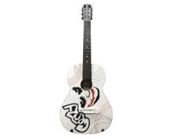 (1510) Гитара с Росписью «Joker» 3/4 Новые Колки и Струны