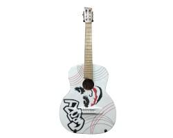 (1793) Гитара с Росписью «Joker» Новые Колки и Струны