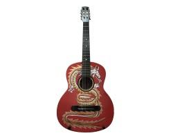 [4678] Гитара Классическая с Росписью «Дракон» Новые Колки и Струны