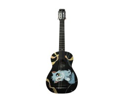 [5618] Гитара Классическая 1\2 с Росписью «Милый Котик» Новые Колки и Струны