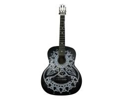 (3780) Гитара Классическая с Росписью Новые Колки и Струны