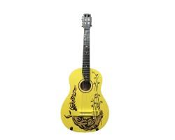 (2419) Гитара 3\4 с Росписью «Тигр» Новые Колки и Струны