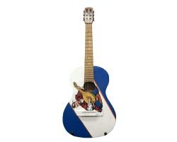 (2451) Гитара 3\4 с Росписью «Козак- Патриот»