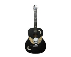(4046) Гитара с Росписью «Fearless Skull» Новые Колки и Струны