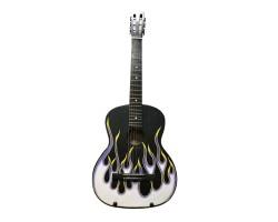 (4912) Гитара с Росписью «The Winner's Flame» Новые Колки и Струны