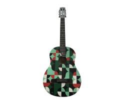 (2501) Гитара 3\4 с Росписью Новые Колки и Струны