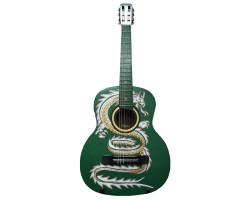 (2546) Гитара с Художественной Росписью Дракон