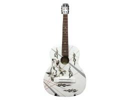 (2572) Эксклюзивная Гитара с Росписью Волк