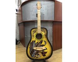 (3345) Акустическая Гитара с Художественной Росписью
