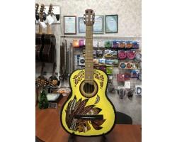 (3617) Гитара с Росписью «Индеец» (Новые Колки и Струны)