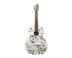 [3911] Уникальная Гитара с Росписью Renome