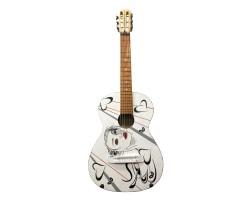 [4129] Уникальная Гитара 3\4 с Росписью Новые Колки и Струны Нейлон