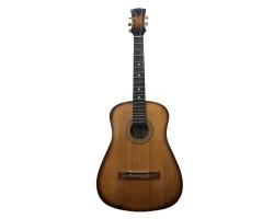 (4398) Редчайшая Ленинградская Гитара с Пластиковой Декой