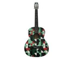 (4465) Гитара с Росписью Новые Колки и Струны