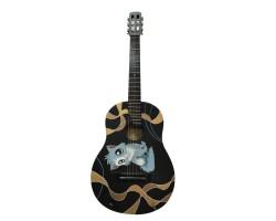 (0785) Гитара Классическая с Росписью «Lousy Cat»