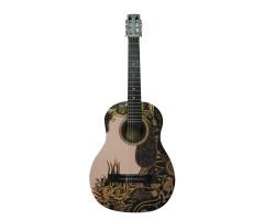 (2986) Гитара Классическая 3\4 с Росписью «Wise Lion» Новые Колки и Струны