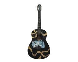 (4066) Гитара Классическая с Росписью «Happy Cat» Новые Колки и Струны
