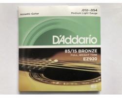 Высококачественные струны D'Addario Bronze .012-.054 Medium Light